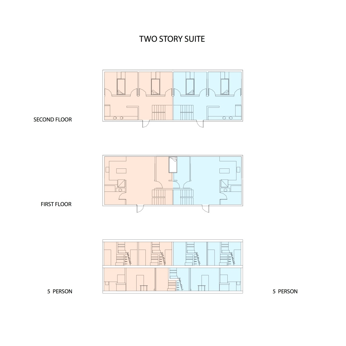 Unit Configuration - Two Story Suite
